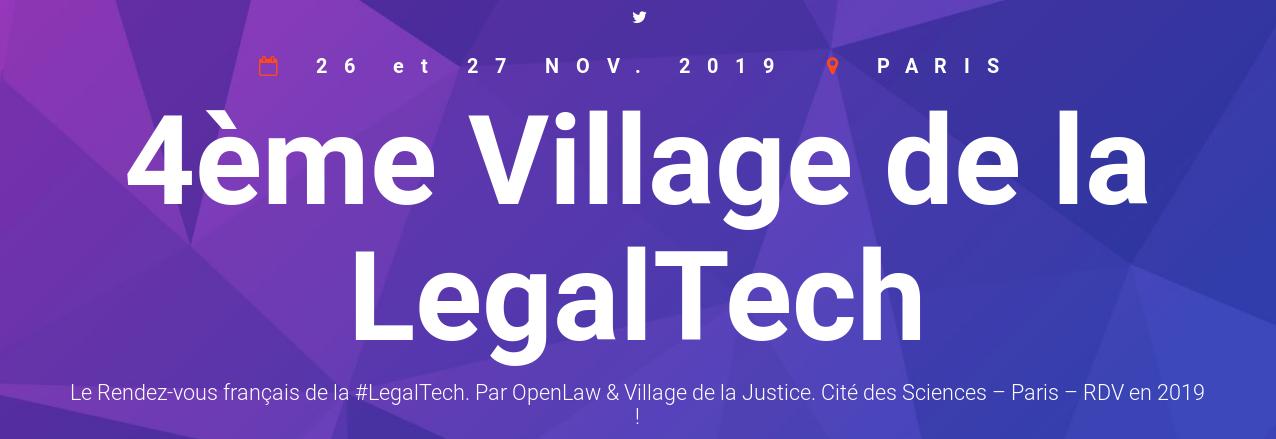 4ème Village de la LegalTech, quand la technologie et le droit se rencontrent